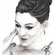 Anne Hathaway Art Print