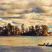 Anne Lacys Hamlin Lake Art Print by Lianne Schneider and Anne Lacy
