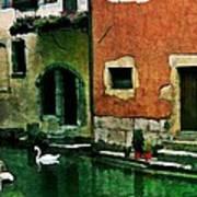 Annecy Swan Art Print