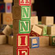 Annie - Alphabet Blocks Art Print