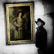 Annie Oakley With A Cowboy Art Print
