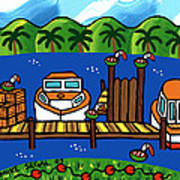 Annie's Dock - Cedar Key Art Print