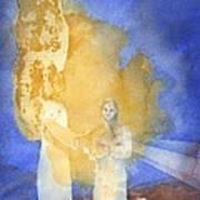 Annunciation Art Print by John Meng-Frecker