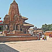 Another Hindu Temple N Bhaktapur Durbar Square In Bhaktapur -nepal Art Print