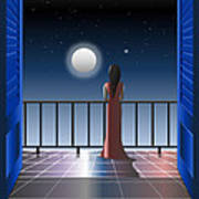 Another Night Alone Art Print