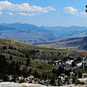 Another View From Mammoth In Yellowstone Art Print
