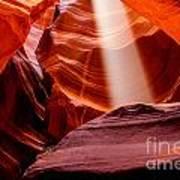 Antelope Canyon Beam Art Print