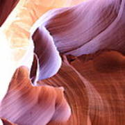 Antelope Canyon Colorful Waves Art Print
