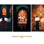 Anthony Howarth Collection - Gold - Simply Buddha? Mandalay Art Print