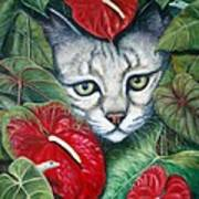 Anthurium Assassins Art Print
