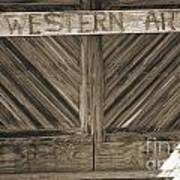 Antique Barn Doors In Sepia Black And White 3003.01 Art Print