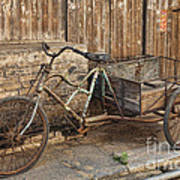 Antique Bicycle In The Town Of Daxu Art Print