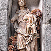 Antique Blessed Virgin Statue Art Print