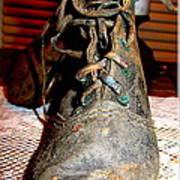 Antique Boots Art Print