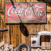 Antique Building At The Techatticup Gold Mine Art Print