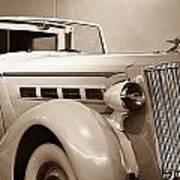 Antique Car In Sepia 2 Art Print