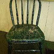 Antique Child's Chair With Quilt Art Print