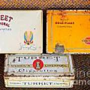 Antique Cigarette Boxes Art Print