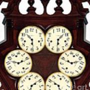 Antique Clock Abstract . Standard Art Print by Renee Trenholm