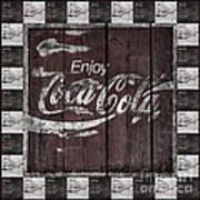 Antique Coca Cola Signs Art Print