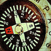 Antique Compass Art Print