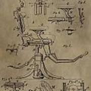 Antique Dental Chair Patent Art Print