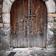 Antique Door Wood Art Print
