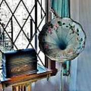 Antique Edison Phonograph In The Boardwalk Plaza Lobby - Rehoboth Beach Delaware Art Print