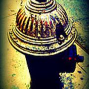 Antique Vintage Fire Hydrant - Multi-colored Art Print