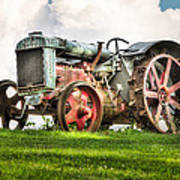 Antique Fordson Tractor - Americana Art Print by Gary Heller