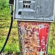 Antique Gas Pump 3 Art Print
