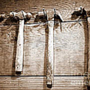 Antique Hammers Art Print