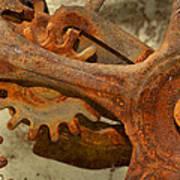 Antique Hand Mixer Gears Art Print