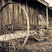 Antique Hay Rake Art Print