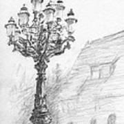 Antique Lampost Art Print