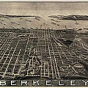 Antique Map Of Berkeley California By Charles Green - Circa 1909 Art Print