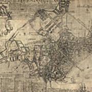 Antique Map Of Boston By William Price - 1769 Art Print