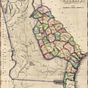 Antique Map Of Georgia By Samuel Lewis - Circa 1810 Art Print