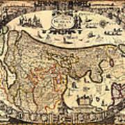 Antique Map Of Holland 1630 Art Print