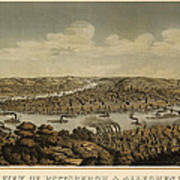 Antique Map Of Pittsburgh Pennsylvania By Otto Krebs - 1874 Art Print