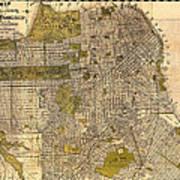 Antique Map Of San Francisco 1932 Art Print