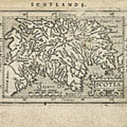 Antique Map Of Scotland By Abraham Ortelius - 1603 Art Print by Blue Monocle