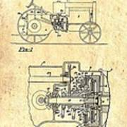 Antique Massey-ferguson Tractor Patent 1935 Art Print