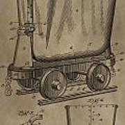 Antique Mining Trolley Patent Art Print