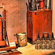 Antique Oil Bottles Art Print