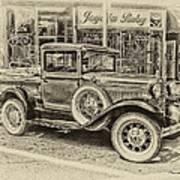 Antique Pickup Truck Art Print