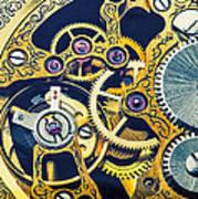 Antique Pocket Watch Gears Art Print