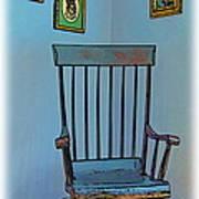 Antique Rocking Chair Art Print