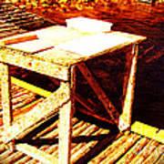 Antique Splitting Table Art Print