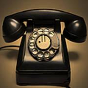 Antique Telephone Art Print by Diane Diederich